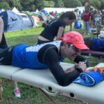 Graeme Pallister gets a massage The kindrochit quadrathlon 2013